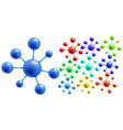 abstract colorful molecules vector image