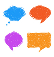 Colorful hand drawn speech and thought bubbles vector image
