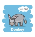 Donkey vector image