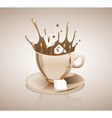 Splashing coffee drink vector image