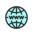 world global network icon vector image