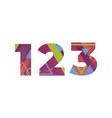 123 concept retro colorful word art vector image