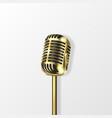 3d realistic golden steel retro concert vector image vector image