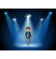 A man with a book at the center of the stage vector image vector image