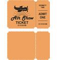 aero show ticket vector image vector image