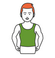 athletic man character icon vector image vector image