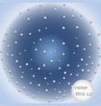 ball of white spheres abstract 3d render vector image vector image