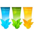 banners with arrows vector image vector image