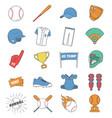 baseball icon set graphic elements vector image vector image