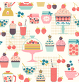 Berry sweets pattern vector image