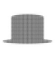 black dotted gentleman hat icon vector image