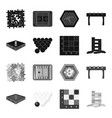 board game blackmonochrome icons in set vector image vector image