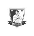 boxing club logo icon with boxing man vector image vector image
