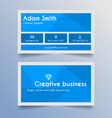 business card template - blue and light grey vector image vector image