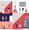 business people - flat design style vector image vector image