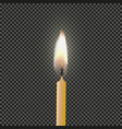 candle flame fire light light background vector image vector image