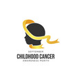 childhood cancer awareness realistic ribbon vector image vector image