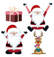 christmas items collection isolated on white vector image