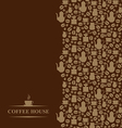 coffee vertical brown vector image vector image