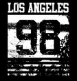 college los angeles typography t-shirt graphics vector image vector image