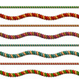colorful ropes set vector image