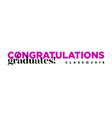 congratulations graduates class 2018 logo vector image vector image