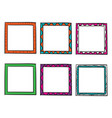 doodle frame collection with bright color vector image vector image
