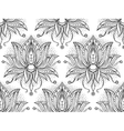 Doodle Lotus Seamless Pattern vector image vector image