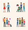 family history set vector image
