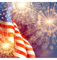 fireworks background for 4th of july independense vector image vector image