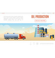 flat oil industry web page template vector image vector image