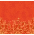 Floral pattern outline tulips vector image