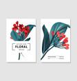floral tender card botanical spring vector image vector image