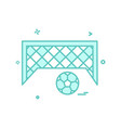 football goal net icon design vector image