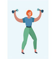 girl is training with weight vector image vector image