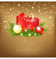Gold Christmas Card vector image vector image