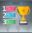 golden cup - business infographic vector image