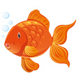 Goldfish with happy face vector image vector image