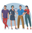 group young people vector image vector image
