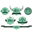 Grunge retro badges vector image vector image
