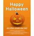Halloween poster pumpkin vector image vector image