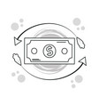 hand draw money and business cartoons vector image vector image