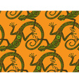 hand drawn seamless pattern with lizards or vector image vector image