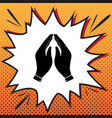 hand icon prayer symbol vector image