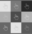 hand sign grayscale version vector image vector image