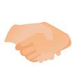 handshake cartoon vector image vector image
