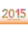 Happy new year 2015 greeting card6 vector image vector image