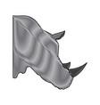 head rhino wild animal africa exotic mammal vector image vector image