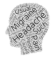 Headache And Migraine Pain Relief Through vector image vector image