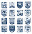 ice hockey sport isolated icons vector image vector image